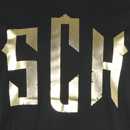 SCH - Tee Shirt Logo Noir Or