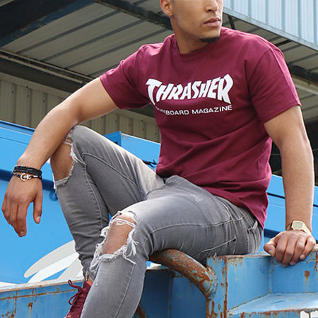 Thrasher - Tee Shirt Skate Mag Bordeaux