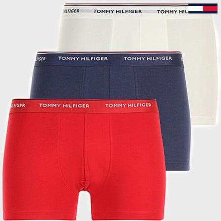 Tommy Hilfiger - Lot De 3 Boxers Premium Essentials Bleu Blanc Rouge