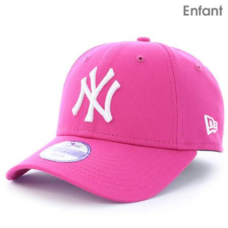 New Era - Casquette Enfant 940 MLB League New York Yankees Rose