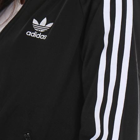 adidas - veste zippée femme bk5931 noir blanc