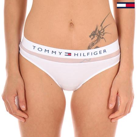 Tommy Hilfiger Logo Slip Femme Sous-vêtements Brève-Blanc Toutes Les Tailles