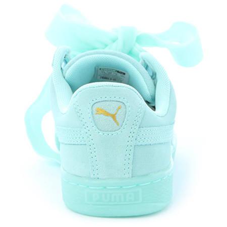 Puma Baskets Femme Suede Heart Reset 363229 01 Aruba Blue