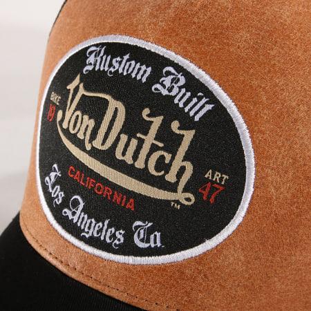 Von Dutch - Casquette Trucker Cas1 Noir Camel