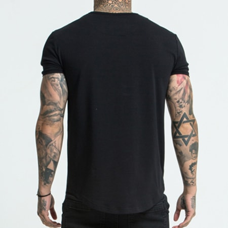 Siksilk - Tee Shirt Gym 10891 Noir