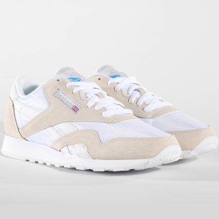 Reebok - Baskets Classic Nylon 6390 White Light Grey