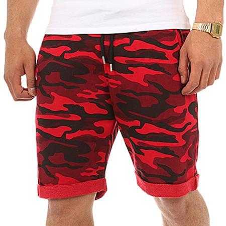 LBO - Short Jogging 137 Camouflage Rouge