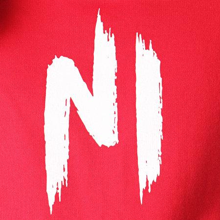 Ninho - Sweat Capuche Ninho Rouge Logo Blanc
