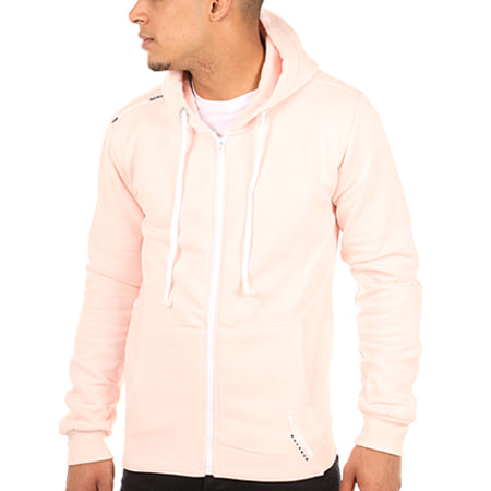 Geographical Norway Sweat Zippé Capuche Gmusic Rose
