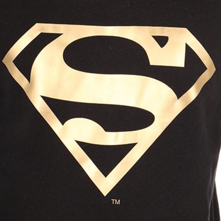 Superman - Sweat Capuche Logo Noir Or