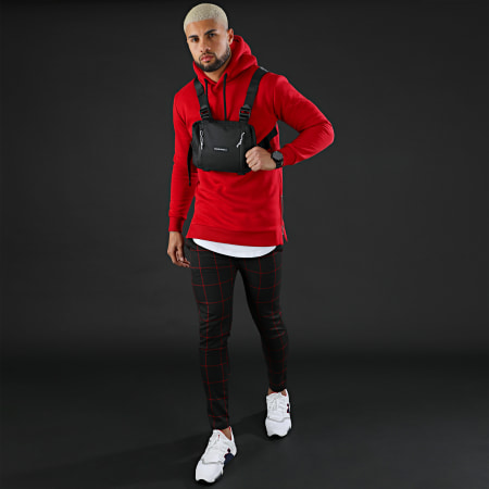LBO - Sweat Capuche Oversize Zip 201 Rouge