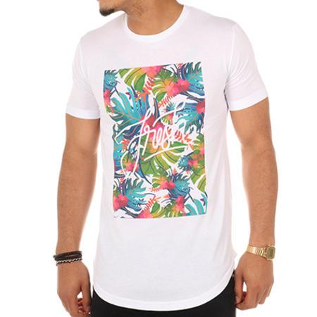 Luxury Lovers - Tee Shirt Oversize Fresh Tropical Blanc