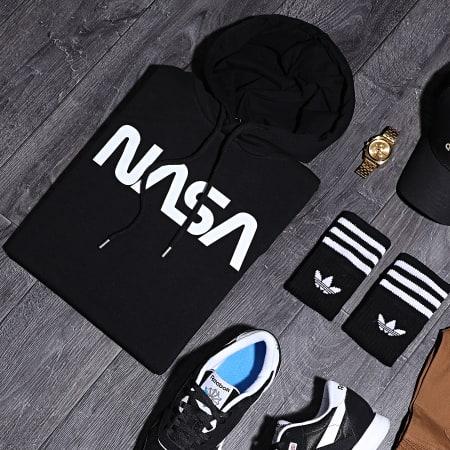 NASA - Sweat Capuche Worm Logo Noir