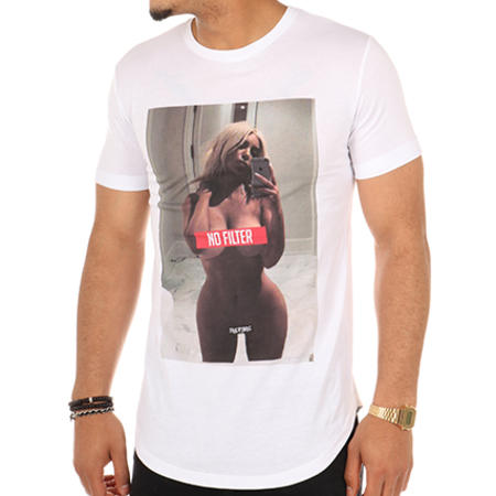 Thug N Swag - Tee Shirt Oversize No Filter Blanc