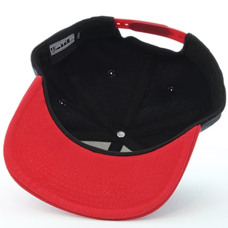 Wati B Casquette Basic Noir//Rouge