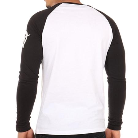 Seth Gueko - Tee Shirt Manches Longues Raglan Barlou 2 Blanc Noir
