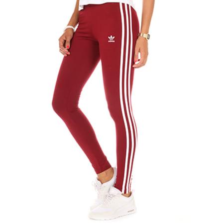 pantalon adidas 3 stripes bordeaux femme