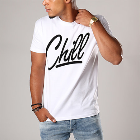 Luxury Lovers - Tee Shirt Oversize Chill Blanc