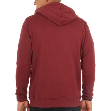 Luxury Lovers - Sweat Capuche Poche Circle Chill Speckle Bordeaux