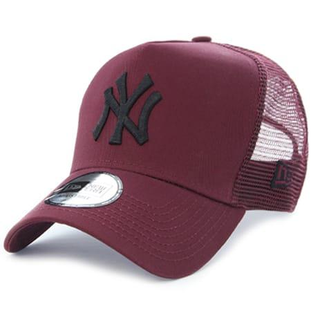 New Era Casquette Trucker League Essential New York Yankees Bordeaux