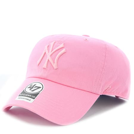 '47 Brand - Casquette De Baseball 47 Clean Up New York Yankees Rose