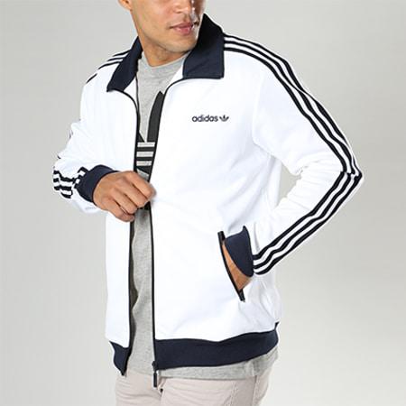 ancla metálico apilar  adidas - Veste Zippée Beckenbauer BR2296 Blanc - LaBoutiqueOfficielle.com