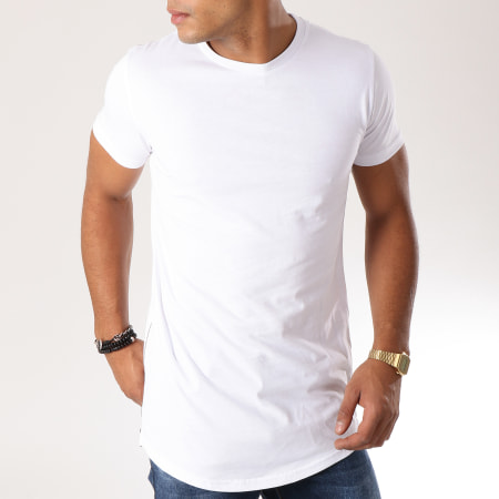 LBO - Tee Shirt Oversize Zip 115 Blanc