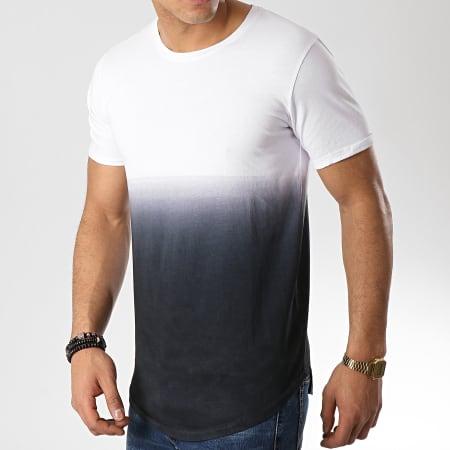LBO - Tee Shirt Oversize 99 Blanc Dégradé Noir