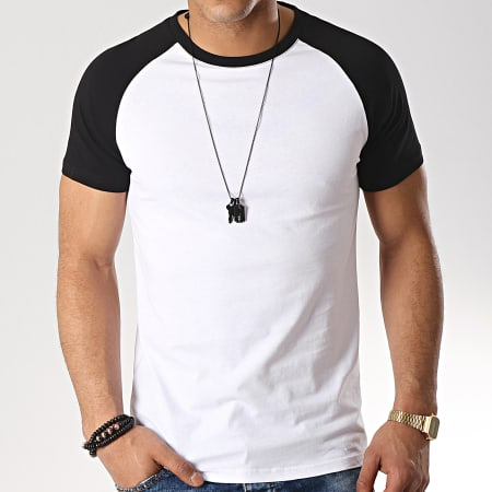 LBO - Tee Shirt Raglan 92 Noir Blanc