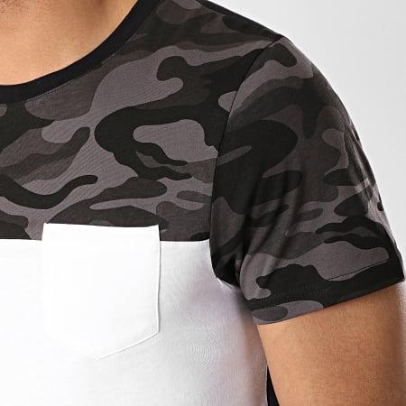 LBO - Tee Shirt Poche 135 Noir Blanc Camouflage