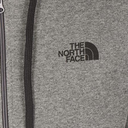 The North Face - Sweat Zippé Capuche Open Gate Gris Anthracite Chiné