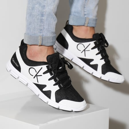 Calvin Klein - Baskets Murphy Mesh Black White