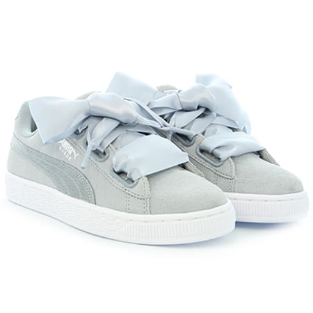 Puma Baskets Femme Suede Heart Metallic Safari 364083