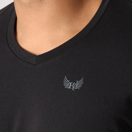 Kaporal - Lot De 2 Tee Shirts Gift Blanc Noir