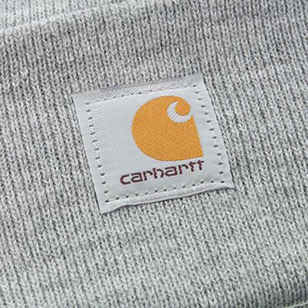 Carhartt - Bonnet Logo A18 Gris Chiné