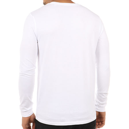 NASA - Tee Shirt Manches Longues Insignia Front Blanc