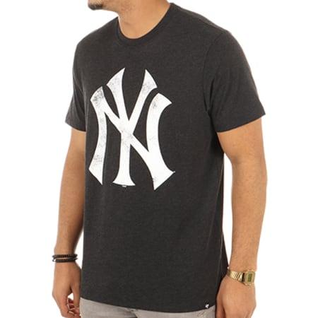 '47 Brand - Tee Shirt New York Yankees 304866 Noir Chiné