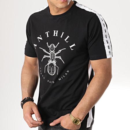 Anthill - Tee Shirt Bandes Brodées Tape Noir Blanc