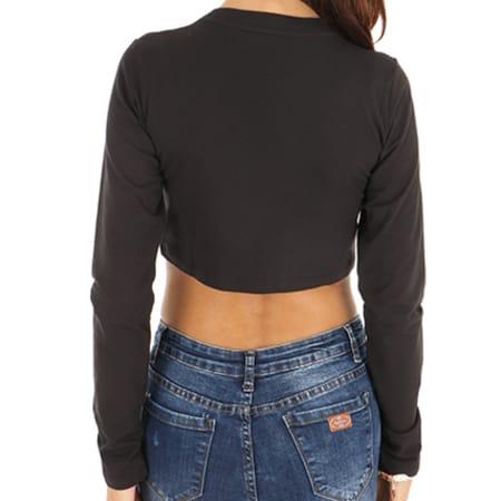 adidas - Tee Shirt Manches Longues Crop Femme SC CE1670 Noir