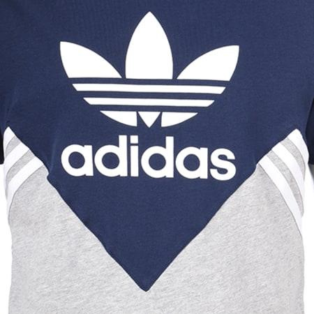 adidas Tee Shirt Enfant FL CE1082 Bleu Marine Gris Chiné