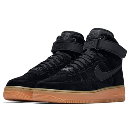 Nike Baskets Air Force 1 High 07 LV8 Suede AA118 001 Black