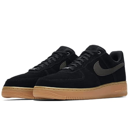 Nike - Baskets Air Force 1 07 LV8 Suede AA1117 001 Black Gum Med ...