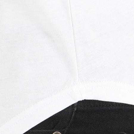 NASA - Tee Shirt Oversize Worm Logo Bicolore Blanc Noir