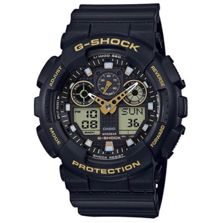 Casio - Montre G-Shock GA-100GBX-1A9ER Noir Jaune