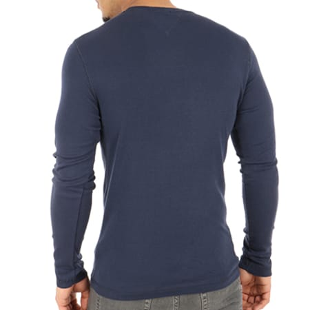 Tommy Hilfiger Jeans - Tee Shirt Manches Longues Original 4409 Bleu Marine