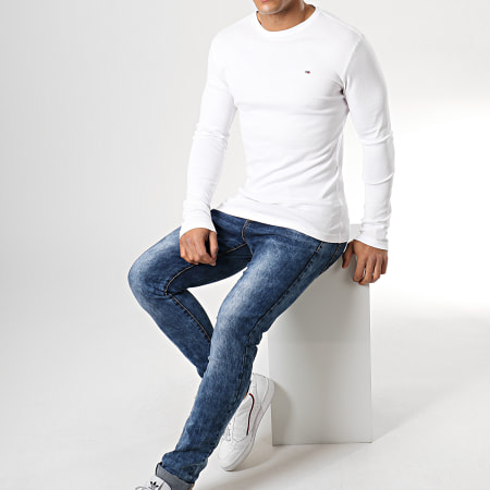 Tommy Hilfiger Jeans - Tee Shirt Manches Longues Original 4409 Blanc