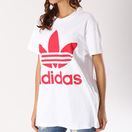 tee shirt adidas femme rouge large