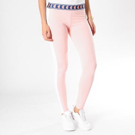 Ellesse - Legging Femme Bicolore Rose Blanc