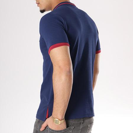 Ellesse homme à encolure POLO Rouleau Jersey Coton Logo Medium Bleu marine NEUF