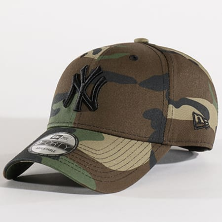 New Era - Casquette League Essential 9 Forty MLB New York Yankees Vert Kaki Camouflage